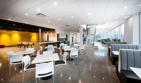 Corporate Cafeteria and Work Lounge