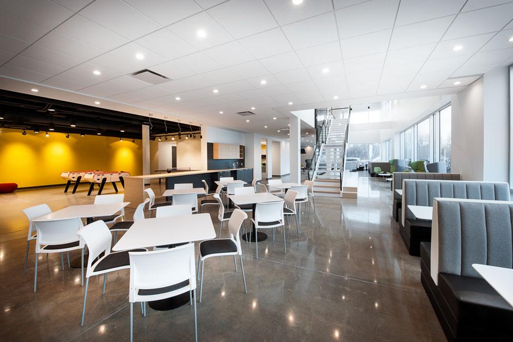 Design intérieur – Cuisine corporatif – Cafétéria – Salle de jeu ...