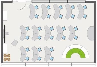 Shift Thumbprint Stackable Mobile Table Aquest Design